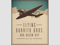Flying Bros And Bacon Boy Poster