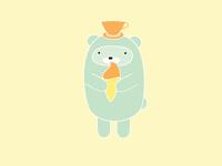 Ice Cream Cup Bear