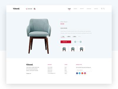 Furniture Site Concept - UI/UX Design product page web homepage ux ui design website minimal clean furniture