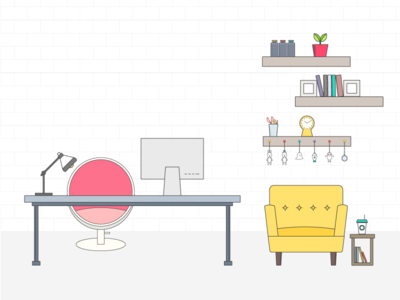 Office illustration office