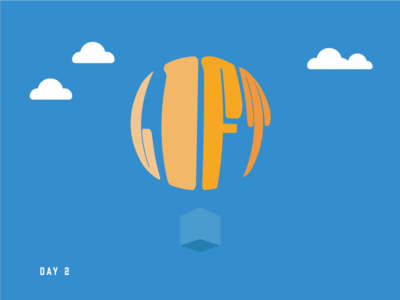 Daily Logo Challenge - Hot Air Balloon (2/50) logo hot air balloon