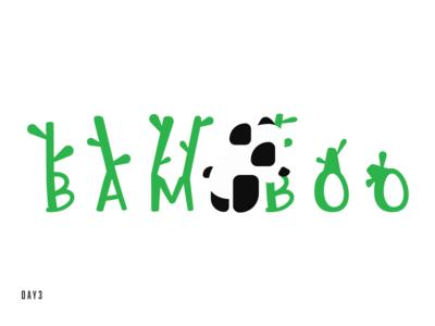 Daily Logo Challenge - Panda logo bamboo panda