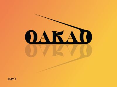 Daily Logo Challenge #7-Fashionbrand Wordmark logo wordmark fashion brand oakao