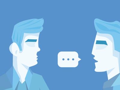 Gossiping boss minimal illustration coworker work