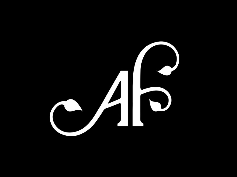 AF Monogram - Allways Fresh fruit growing logo farm freshness branches vegetation pure organic lettering typography custom lettering leaf vegetables fresh nature leave branding monogram af