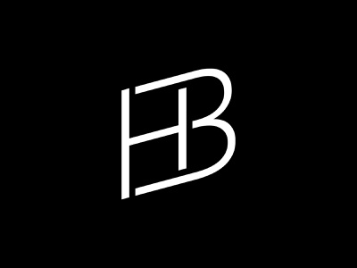 HB / BH Monogram wordmark typography motion designer monogram minimal logotype logo lettermark logo lettermark lettering identity icon hodges h branding brand bh ben hodges ben b