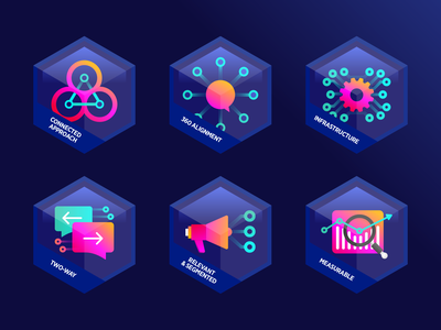 Internal communication guideline badges chat isometric internal comms internal communication consulting hexagon patch typography medals gamification communication icon data icon abstract icon illustration pin badges logo design achievement icon set badge icon