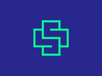 S monogram + Medical cross