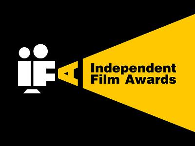 Independent Film Awards logo custom type type movie projector logo lettering independent identity film reel film typography custom cinema branding brand london awards