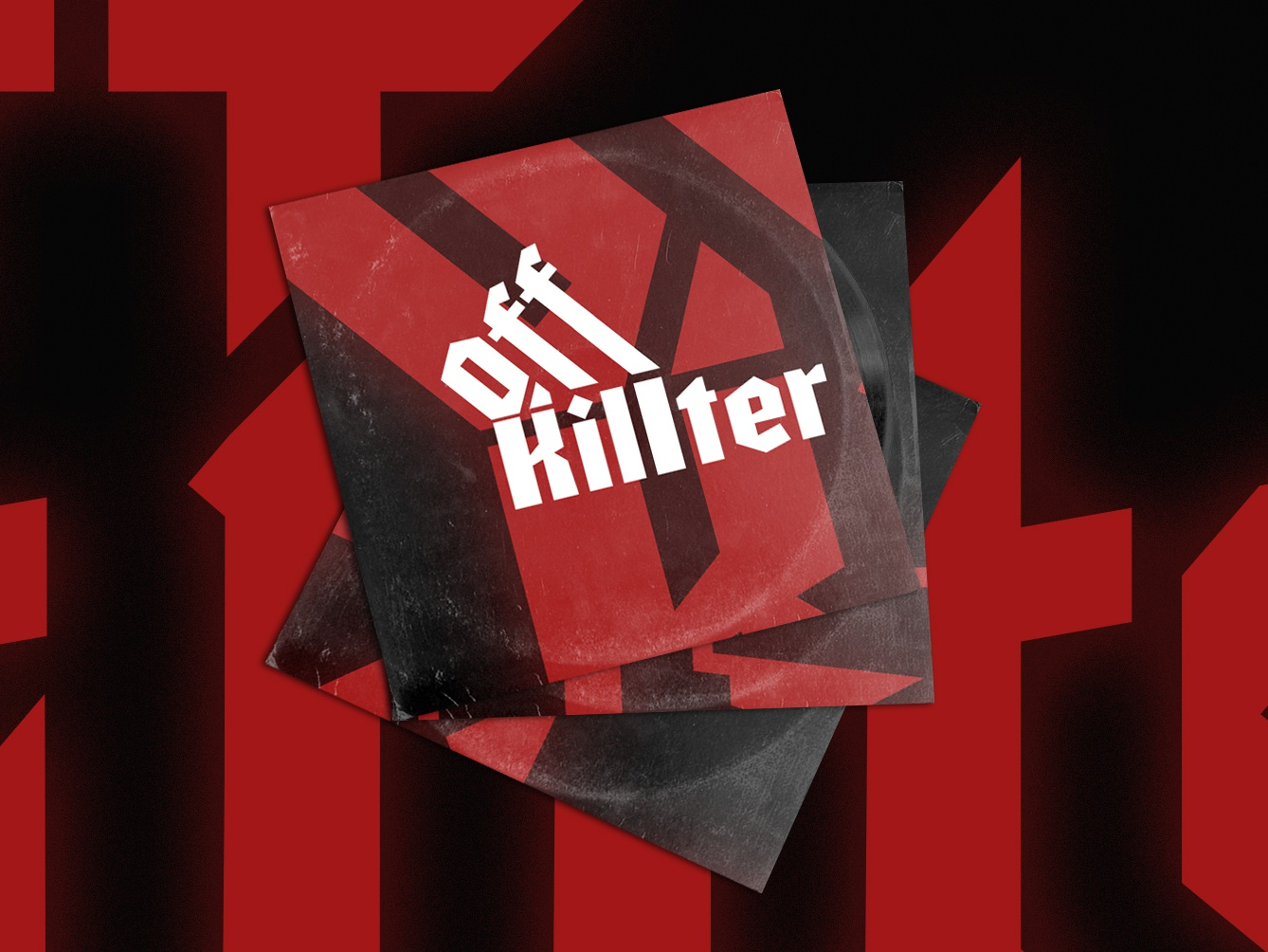 Unused concept: Off Killter logo wordmark band gothic off kilter typography identity horror lettering producer dj branding logo typograhy