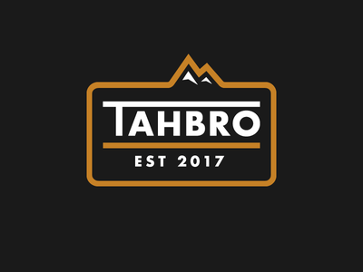 Tahbros ski trip mountain patch badge tahoe