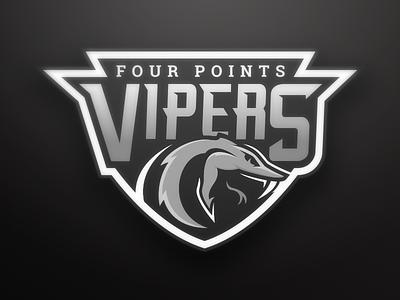 Viper Football Crest sports branding branding logo sports league little viper snake badge football