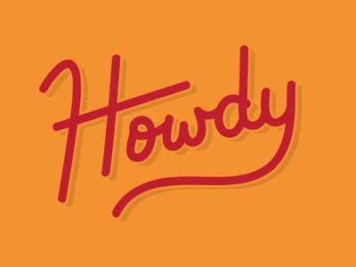 Howdy! type cowboy texas austin script howdy