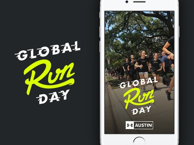 Global Running Day Snapchat Filter global day run armour under austin filter snapchat