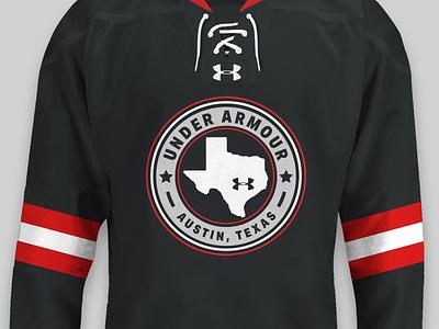 UA Austin Hockey Crest Logo sports branding austin texas sports logo crest armour under jersey hockey
