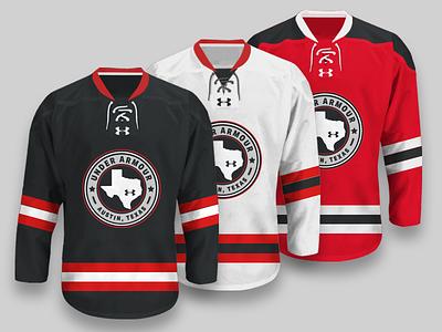 UA Austin Hockey Jerseys texas austin jersey hockey armour under