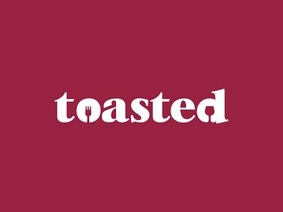 Toasted type logo toasted food wine