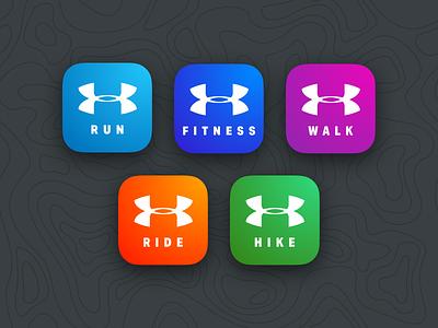 MapMy Icon Suite store app ios icon fitness walk ride hike run mapmyrun