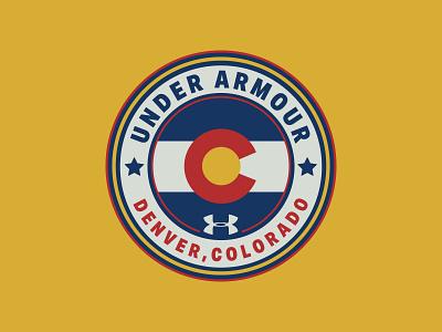 Under Armour Denver badge branding logo sports flag colorado fitness denver armour under