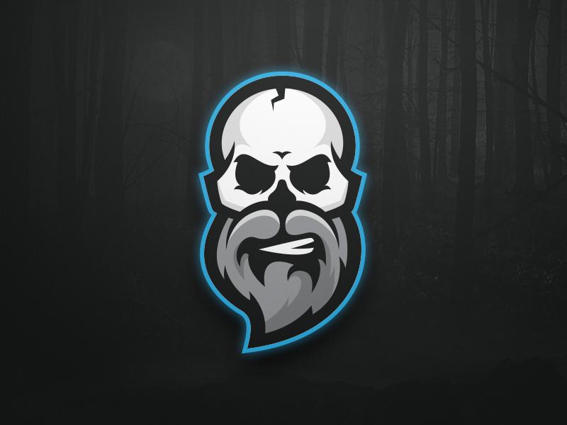 Bearded Skull Logo undead dead branding sports esports beard skull logo lumberjacks