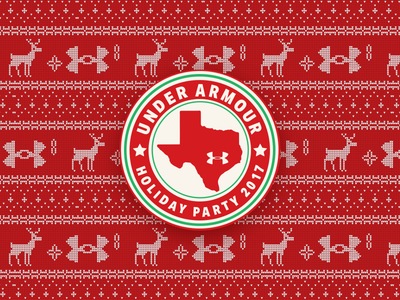UA Austin Holiday Party office armour under sweater party holiday