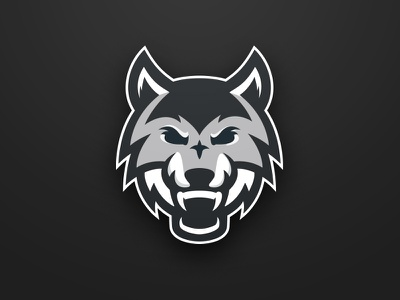 Wolf Logo team branding hockey wolf mascot logo sports