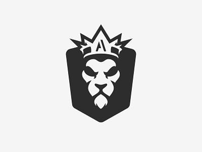 Lion Badge a crown king lion illustration logo shirt badge gym athlete atomic