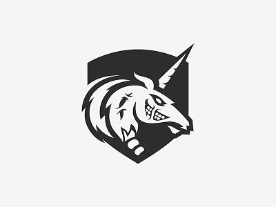 Unicorn Blood zombie jersey soccer mascot logo horse unicorn logo sports