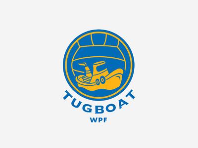 Tugboat Water Polo mascot branding vector design sports logo