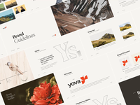 Yova Brand Guidelines impact investing financial audience reputation brand identity mission vision nature office team flowers red swiss beige yova branding brandguidelines brand book guidelines