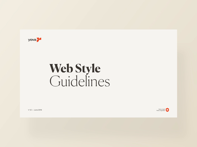 Yova Web Style Guidelines front end ui ux investment financial responsive web design development framework mobile button style guide website design rules yova guidelines styleguide webdesign responsive