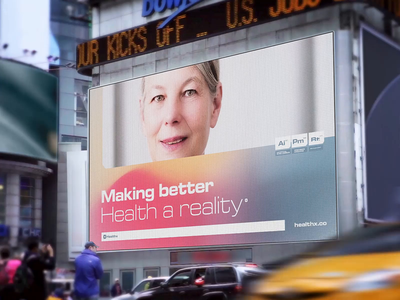 Healthx: Video Billboard photography branding gradient mesh healthcare technology medicine marketing print street advertising billboard video billboard healthx