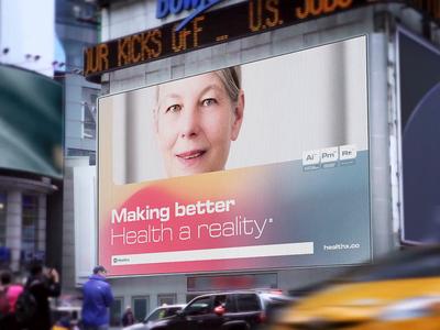Healthx: Video Billboard photography branding gradient mesh healthcare technology medicine marketing print street advertising billboard video billboard healthx