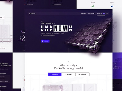 Koniku® — Home Page direction concept wireframes vector neuron website sitemap ux ui design