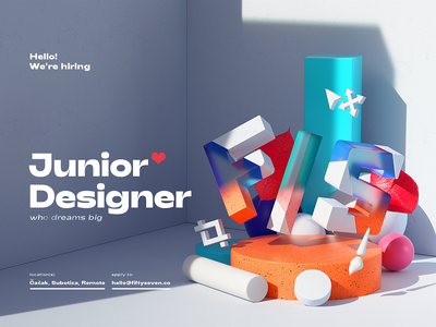 We are hiring! designer junior remote hiring resume cv job