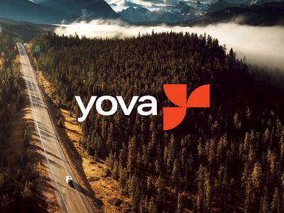 The Yova Logo brand strategy branding and identity responsibility logo logodesign impact investing ocean world leaf river green financial forest nature mountain alps swiss yova