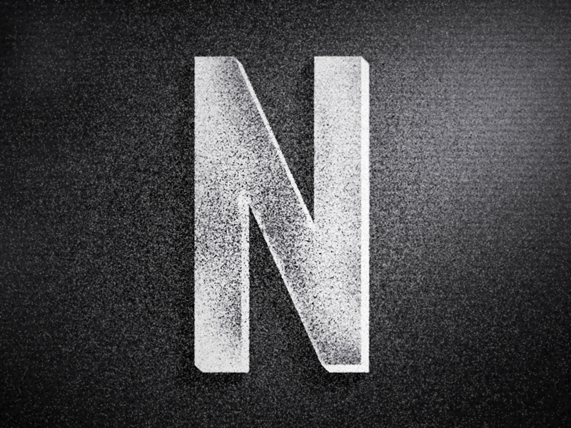 N - Warm-Up letters lettering mark typography vintage color branding logo type