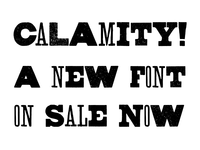 CALAMITY! - New Font Family