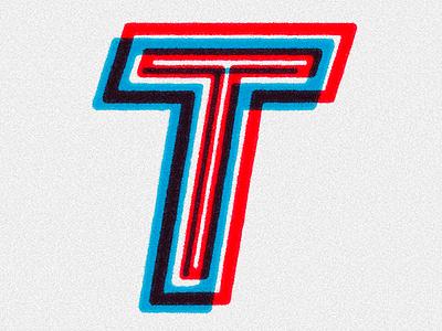 TYPEFIGHT - T illustration typeface retro grain toning light texture letter lettering typography type