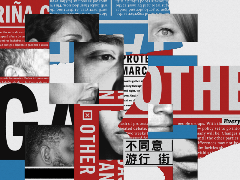 'Others' - Key Art layout branding typography type