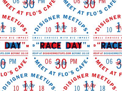 Disigner Meetups - Announcement disneyland disney meetup events design badges retro typeface branding letters font color vintage lettering typography type