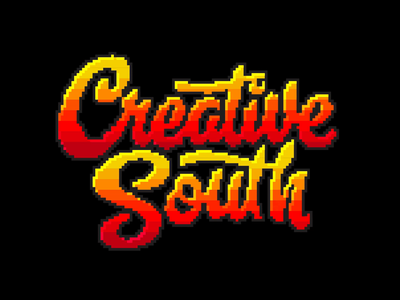 Creative South 2019 - Logo cs19 creativesouth pixel art pixel animation gaming 8bit letters branding font logo color lettering typography type