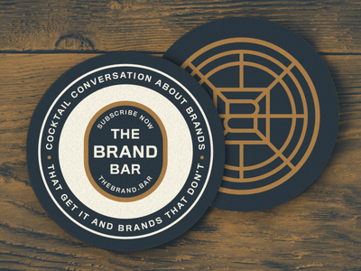 The Brand Bar podcast branding font logo color lettering texture typography type