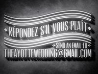 French Cinema Inspired Wedding Invite