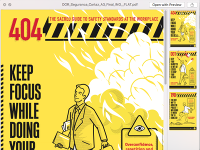 Work safety awareness campaign – poster series snapshot graphicdesign poster design work-safety