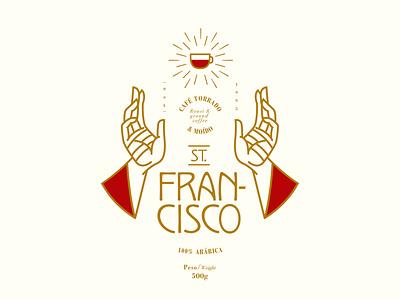 ST. Francisco Coffee label coffee design branding identity design logodesign logo label