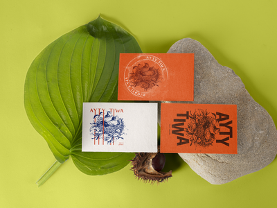 AYTY TIWA - Spa and Garden ID tryout/ Study businesscard branding logo illustration