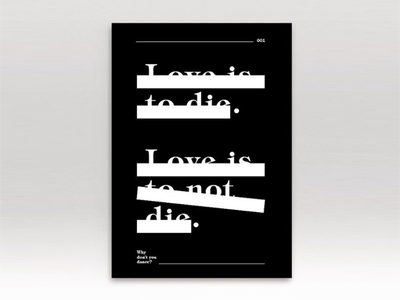 Typography poster series #1 experimental poster typography