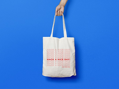 Hack a nice day! tote bag