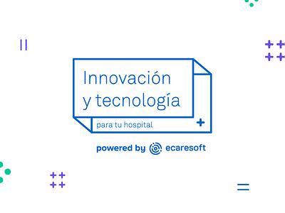 Innovación y tecnología healthcare app health care event branding tech logo